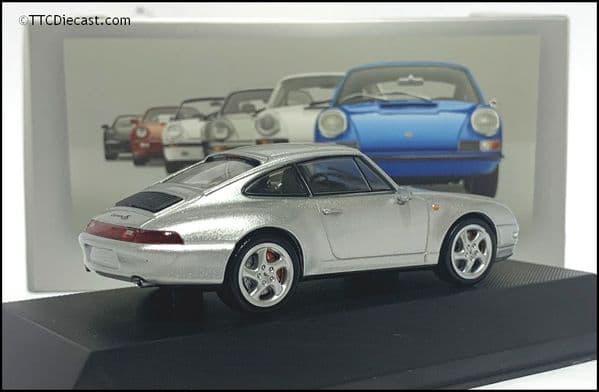7114009 Porsche 911 Carrera 4S (993) 1995 - Silver - 1:43 Scale - MAG LP09
